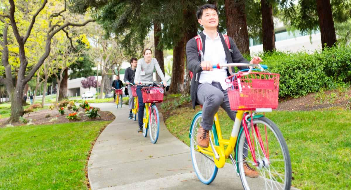 bikers on Googleplex